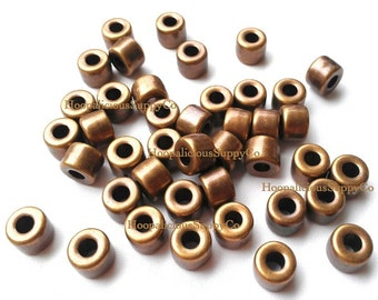 25 BRONZE Tube Spacer Beads- FAST Shipping from USA with Tracking Number
