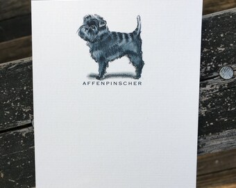 Affenpinscher Dog Note Card Set