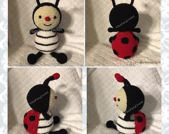 Ladybug, Crochet Ladybug, Bugs, Ladybug Nursery, Stuffed Ladybug, Plush, Ladybug Theme, Stuffed bug, Ladybug Toy, Lady Bug, Crochet Bug, Toy
