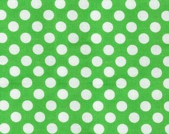 Green Polka Dot -Ta Dot Fabric by Michael Miller