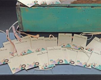 Baby Safari party theme wishing cards