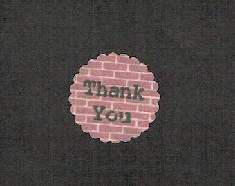Circle Stickers, Scallop Sticker, Set of 80, Sticker, Business Stickers, Logo Sticker, Printed Sticker, Thank You Sticker