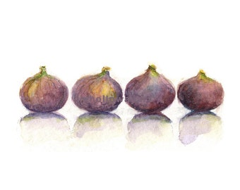 Figs, Figs Print, Watercolor Figs, Fruit Print, Fruit, Kitchen Art