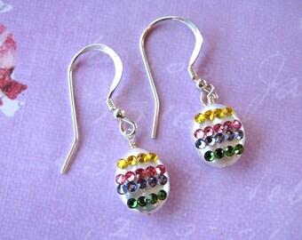 Easter Egg Earrings, Easter Earrings, Swarovski Earrings, Pearl Earrings, Holiday Earrings, Easter Jewelry, Pearl Jewelry, Easter Egg