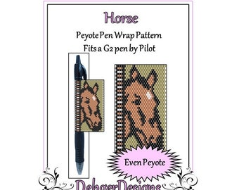 Peyote Beading Pattern (Pen Wrap/Cover)-Horse