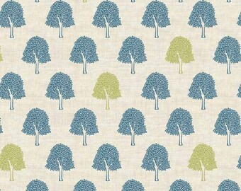 Heartwood Trees 1746 by Makower in blue  100% Cotton Patchwork Quilting