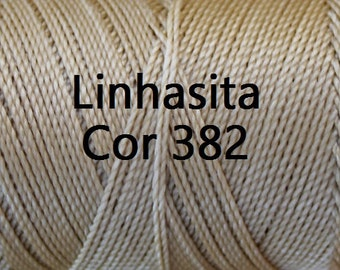Linhasita Beige Cor 382, Waxed Polyester Macrame Cord / String / Hilo
