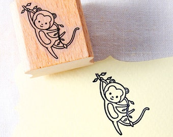 50% OFF SALE Monkey Rubber Stamp