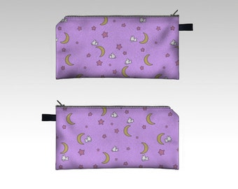Sailor Moon Fairy Kei inspired bedspread Pencil Case Zipper Pouch MADE TO ORDER