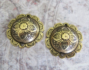 2 Brass Charms 3289B