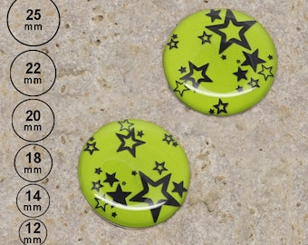 2 round cabochon 20 mm resin star anise is available in 25, 22, 18, 14, 12 mm