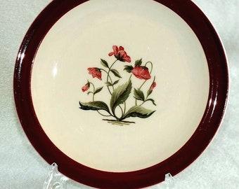 "Vintage Wedgwood Mayfield Ruby Pattern 6 1/8"" Diameter Tea Side / Bread and Butter Plate 1958 (ref: 3093)"