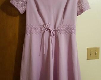 Lavender mini dress