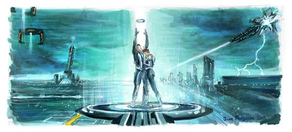"Tron Legacy: Sam and Quorra 5""x11"" Poster Print"