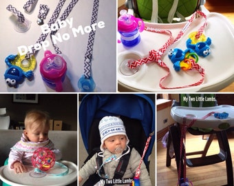 Baby Drop No More, Sippy cup leash set, Sippy cupleashr, sippy cup strap, baby bottle strap, pacifier leash, soother leash
