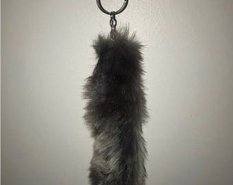 Chinchilla faux fur pompom keychains various colours