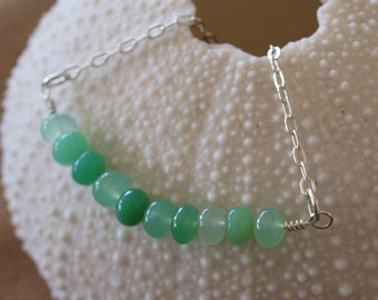 Green Gemstone Sterling Silver Necklace