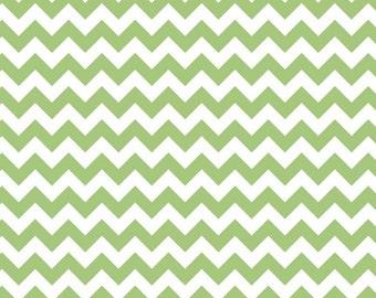 Green Chevron Fabric - Small Chevron by Riley Blake Designs.  Christmas or Holiday Zig Zag. 100% cotton. C3240-30