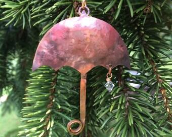 Copper Umbrella Ornament