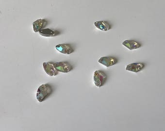Has AB rhinestones sew 5 * 10 mm Crystal 10 piece lot