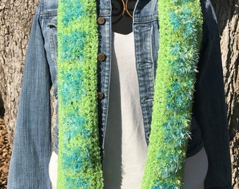 Green/turquoise scarf