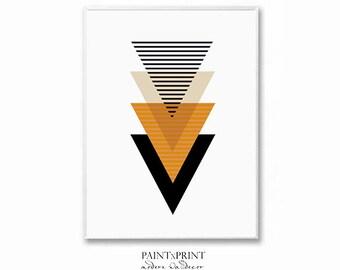 Scandinavian print, Geometric print, Geometric wall art print, Scandinavian art, Large wall art printable, Abstract art print, Geometric art