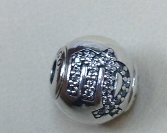 Authentic Pandora Essence Collection Silver Charm Virgo #796039CZ