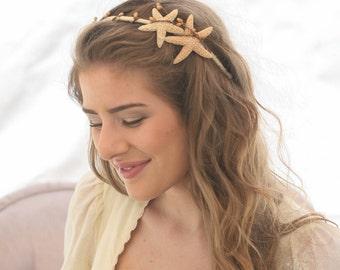 Starfish Headband, Beach Wedding Hair Accessory, Sea Shell Wedding Headband, Bohemian Beach Hair Accessory