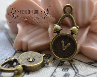 set of 10 QWP052 watch, alarm clock, bronze pendant