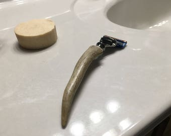 Deer Antler Razor Handle for Gillette Fusion blades