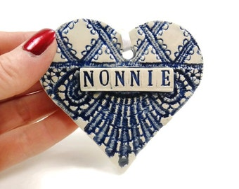 Nonnie Ornament, Gift for Nonnie, Mother's Day Gift, Nonnie Birthday, New Grandmother, Pregnancy Reveal Gift, Nonnie Christmas Ornament