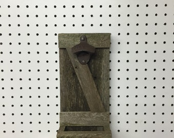 Reclaimed Barn Wood Rustic bottle Opener- Wood Sign  Bottle Top - Bottle Opener