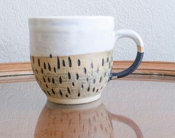 Black and White Textured Mug