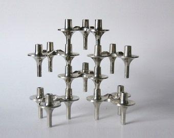 Vintage Candle Holders BMF 'Orion'  - Set of 6