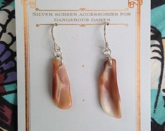 Beautiful shell section earrings