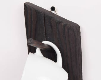 Cup hanger natural pine wood - 19 colors available