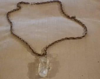 Polished crystal necklace