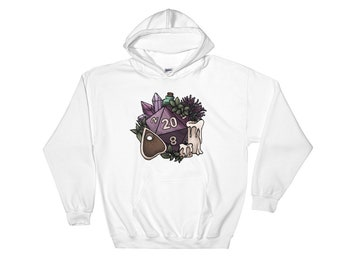 Witchy D20 Hooded Sweatshirt - D&D Tabletop Gaming