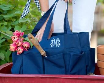 Navy Carry All Organizer Caddy-Organizer Tote-Nurse Bag-Teacher Bag-Toy Bag-Shower Caddy-Includes Monogram
