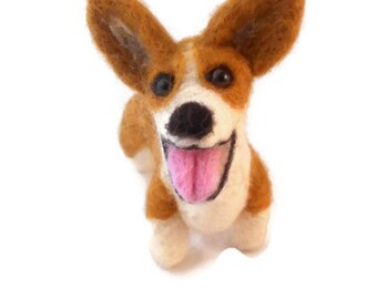 Custom Corgi  - needle felted origonal puppy soft sculpture -  small size - Pembroke Welsh Corgie
