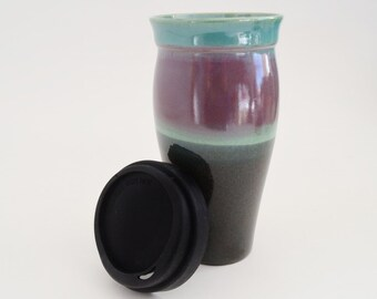 GIFT CERTIFICATE for One Stoneware Travel Mug with silicone lid and sleeve, Made to Order