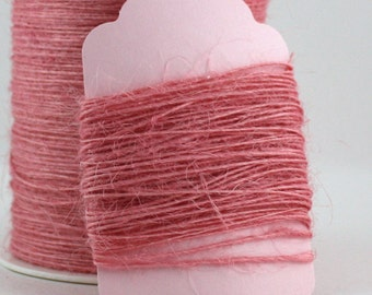 Pink Burlap String Twine, Pink Trim, Pink Jute Twine, Pink Bakery Twine, Pink String, Pink Twine, Gift Wrapping, Invitations, Party Supplies