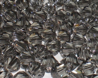 Swarovski Crystal 5328 6mm XILION Black Diamond Bicones - Bag of 25