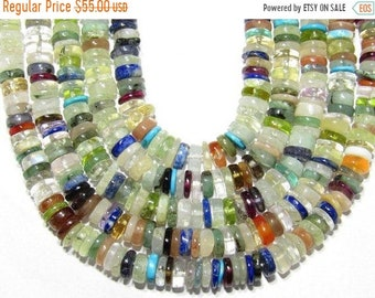 "Natural Multi Stones Beads Button Shape Size 5mm lenght 16 ""Inch Approx New Arrival Wholesale price"
