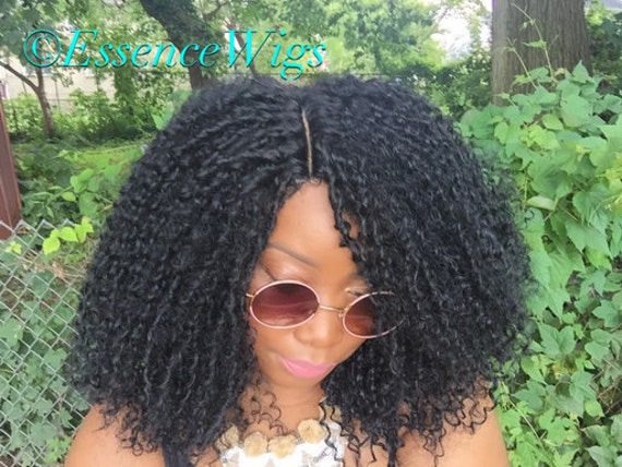 Essence Wigs Kinky Straw Curl Curly Wig Natural Hair Black Kinky Curly Crochet Wig