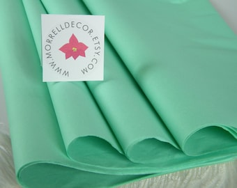 48 Mint Tissue Paper Sheets | Pastel Green | 20 X 30 Inches | Cool Mint Wedding Decor |Gift Wrap Tissue - Packaging - Flower Pom Supplies