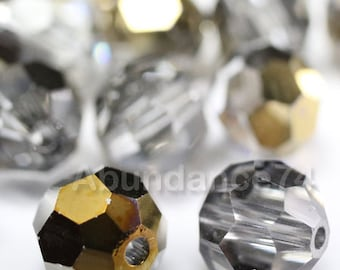 24 pcs Swarovski Elements - Swarovski Crystal Beads 5000 4mm Round Ball Beads - DORADO