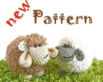 Crochet pattern of sheep (Amigurumi tutorial PDF file)