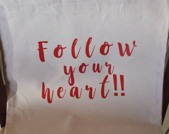 Follow your Heart Canvas Bag