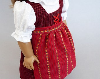 Dirndl outfit for American girl dolls
